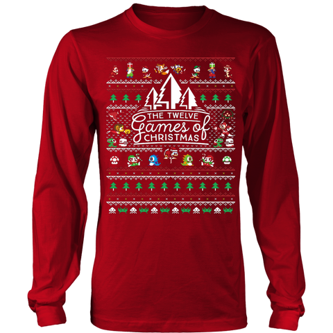 12 Games of Christmas Ugly Christmas Sweater T-shirt