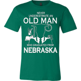 Never underestimate an old man who graduated from Nebraska T-shirt - Vietees Shop Online