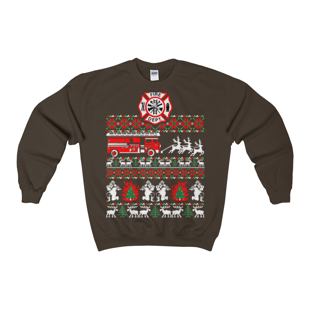 firefighter christmas sweatshirt ugly - Vietees Shop Online