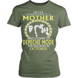 Never Underestimate a Mother Who listens to Depeche Mode and was born in October T-shirt - Vietees Shop Online