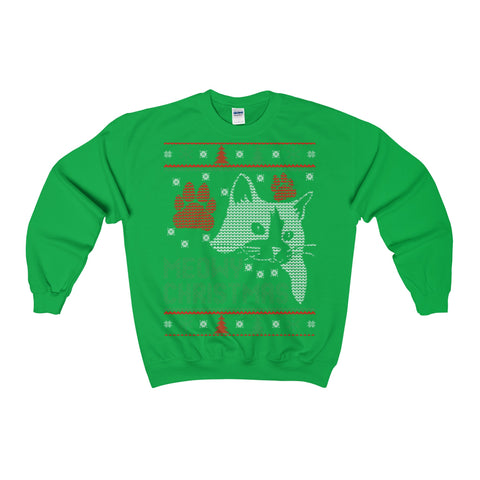 meowy christmas cat ugly christmas sweatshirt xmas - Vietees Shop Online
