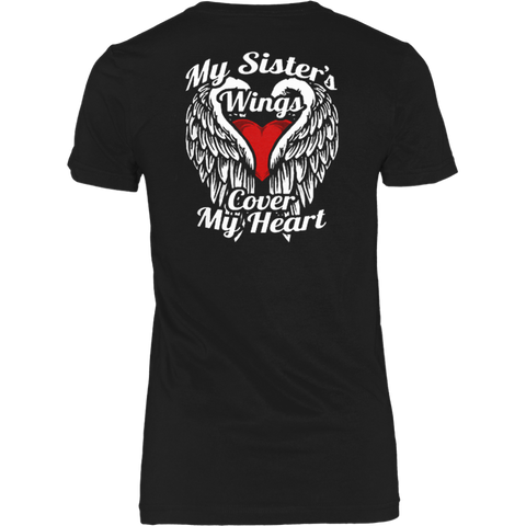 My Sister's Wings Cover My Heart T-shirt - Vietees Shop Online
