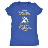 Never Underestimate a Woman who loves Camera and was born in May T-shirt - Vietees Shop Online