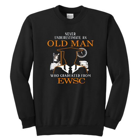 Never Underestimate An Old Man Who Graduated From EWSC Sweatshirt - Vietees Shop Online
