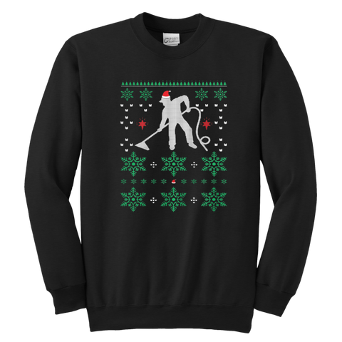 Carpet Cleaner Ugly Christmas Sweatshirt - Vietees Shop Online