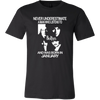 Image of Never Underestimate a Man who listens to the Beatles and was born in January T-shirt - Vietees Shop Online