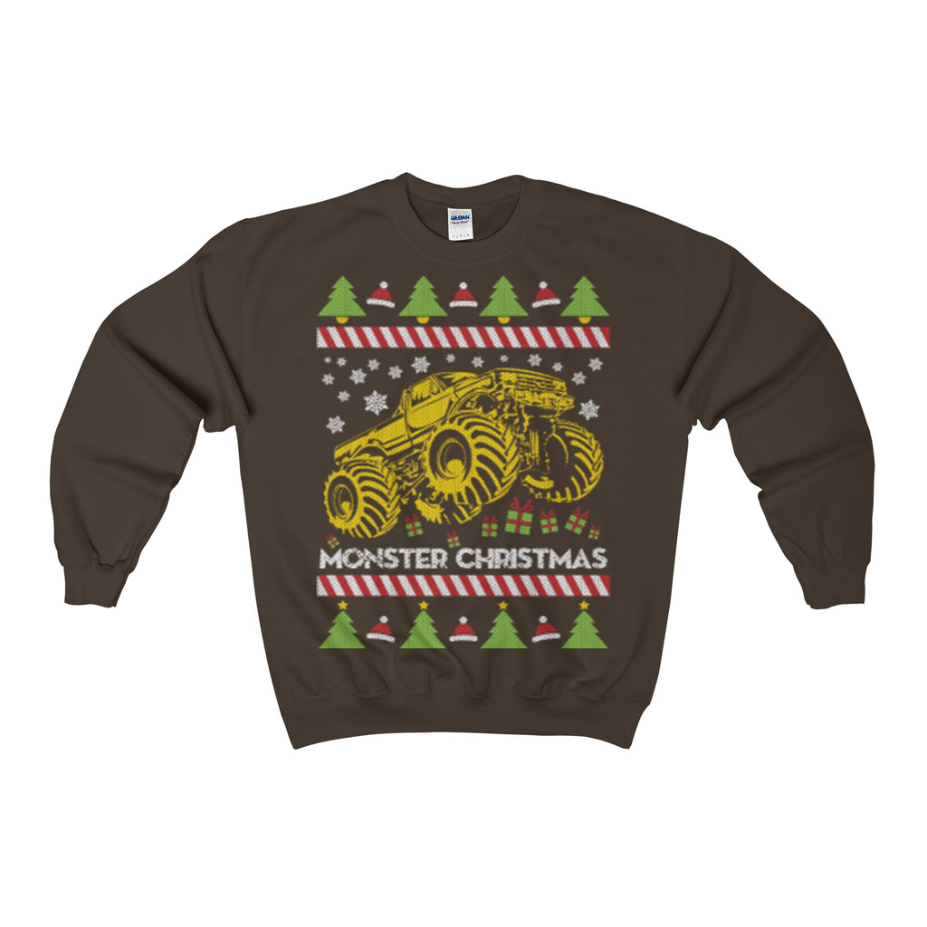 monster truck ugly christmas sweatshirt - Vietees Shop Online