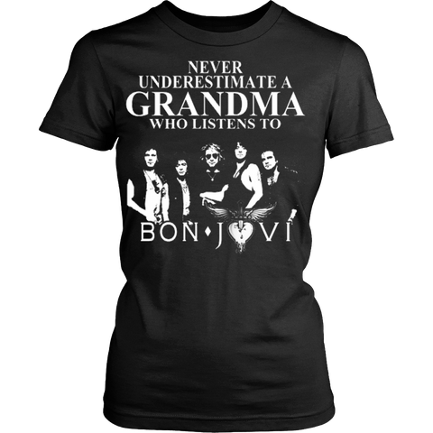 Never Underestimate A Grandma Who Listens To Bon Jovi T-shirt - Vietees Shop Online
