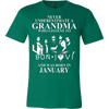Image of Never Underestimate A Grandma Who Listens To Bon Jovi And Was Born In January T-shirt - Vietees Shop Online