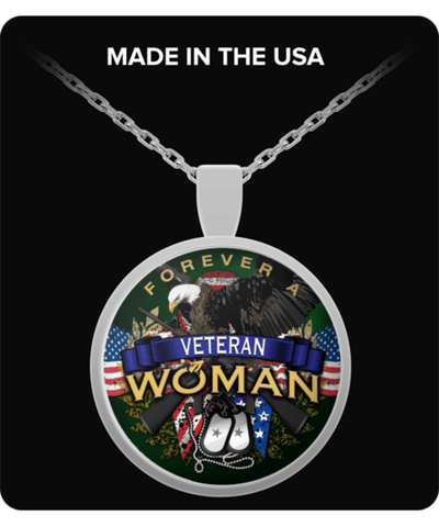 FOREVER A VETERAN WOMAN-NECKLACE - Vietees Shop Online