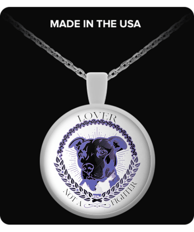 LOVER NOT A FIGHTER -NECKLACE - Vietees Shop Online