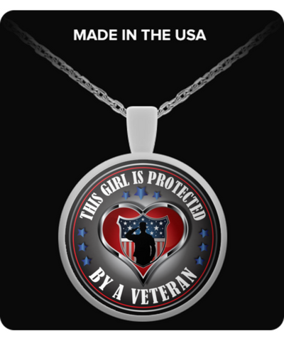 THIS GIRL IS PROTECTED BY A VETERAN: NEW EDITION NECKLACE - Vietees Shop Online