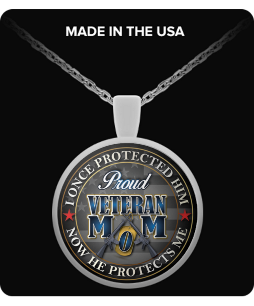 PROUD VETERAN MOM-NECKLACE - Vietees Shop Online