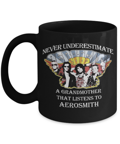 Never Underestimate a Grandmother that listens to Aerosmith Mug - Vietees Shop Online