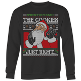 Santa bake the cookies ugly Christmas sweater T-shirt - Vietees Shop Online