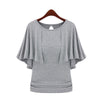 Image of 2016 New Summer Solid Fashion Cloak O-Neck Women Cotton Blend Slimming Stretchy Tops Loose Casual T-Shirt Plus Size M-5XL - Vietees Shop Online