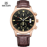 MEGIR new fashion leather stop watch for man 2015 casual quartz watches men calendar wrist watches for males free shipping 2021 - Vietees Shop Online