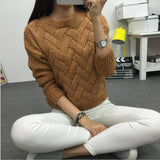 2016 Women Casual Sweater Plaid Female Pullover O-neck Spring and Autumn Computer Knitted - Vietees Shop Online