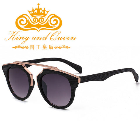 2016 Latest Retro Vintage Cat Eye Sunglasses for Women Brand Designer Imitation Wood Sun Glasses Men Driving Eyewear with Pouch