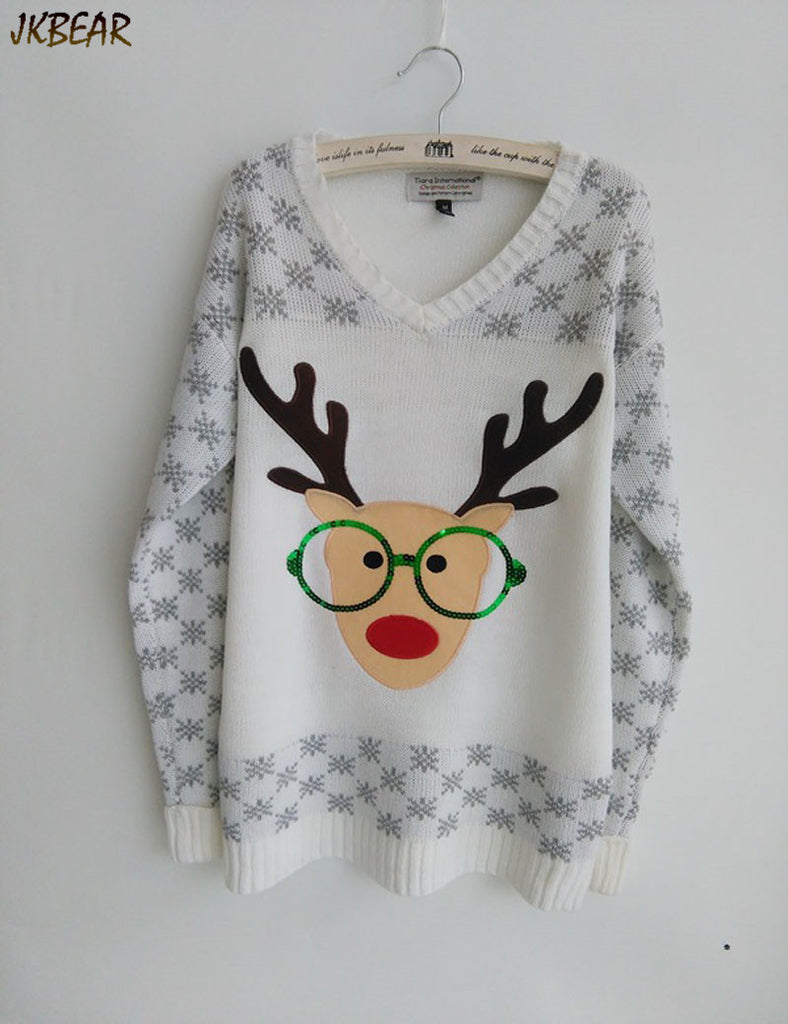 New-arriving Rudolph the Red Nose Reindeer Wearing Glasses Ugly ...