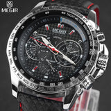 MEGIR Hot Famous Brand Men Watches Top Brand Luxury Business Quartz-watch Clock Leather Strap Male Wristwatch reloj hombre 2016 - Vietees Shop Online