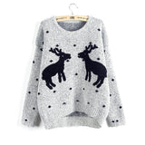 Ellacey New 2016 Stylish Ugly Christmas Sweater Women Reindeer Knitted Pullovers O-neck Long Sleeve Women Sweaters For Junior - Vietees Shop Online