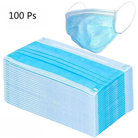 100pcs/pack Disposable Face Mask 3 Layer Salon Dust Ear Loop Medical Mouth Flu Mask - Vietees Shop Online