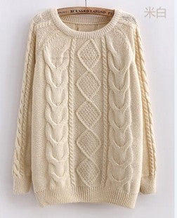 Free Shipping 2017 Hot Sale Women Long Sleeve Pullover Crochet Hollow Knitwear O-neck Jacquard Sweater - Vietees Shop Online