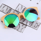 New Half Round Sunglasses Full Eyewear Bamboo Frame Glasses For Men Women Hot Selling - Vietees Shop Online