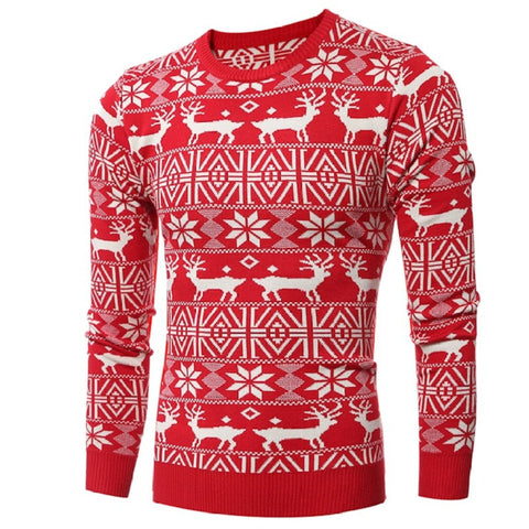 Sweater men high street wear oversize hip hop thick high quality new design ugly christmas sweater pullover wool down - Vietees Shop Online - 1