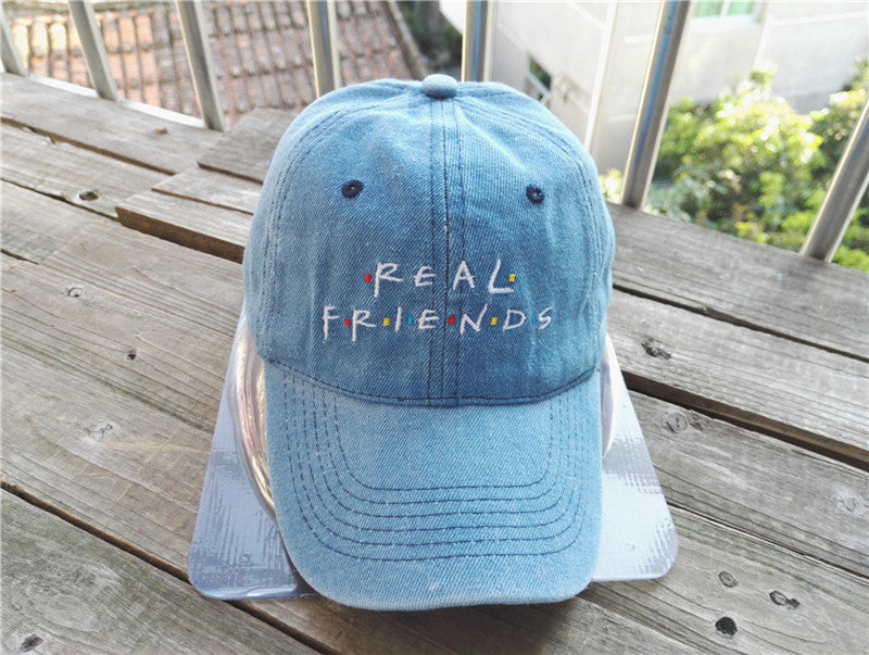 d841577e33c Belababy 2016 Real Friends Baseball Caps Curved Chapeau Visor Dad Hats  Casquette Brand Bone Fashion Hats ...