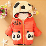 New Baby Boys Jacket Cartoon Bear Baby Keeping Warm Cotton Kids Hoodies Winter Boys Coat Casual Children Outerwear Kids Clothing - Vietees Shop Online