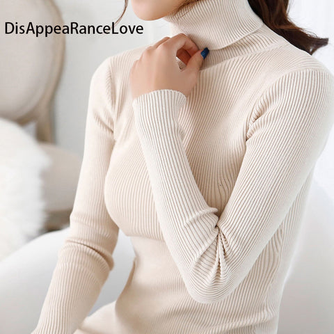 2016 women's slim medium-long turtleneck sweater thickening sweater knitting sweater pattern - Vietees Shop Online