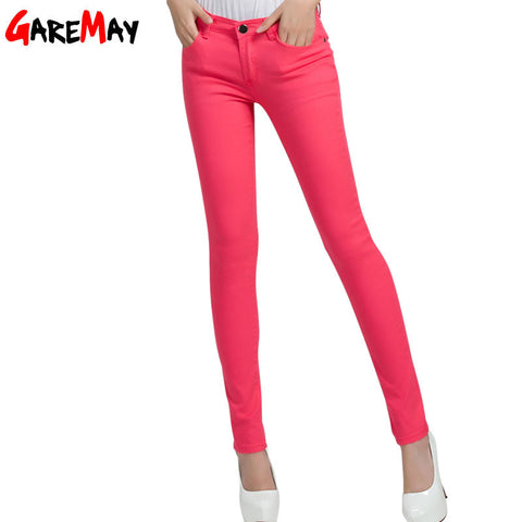 GAREMAY Women's Candy Pants Pencil Trousers 2016 Spring Fall Khaki Stretch Pants For Women Slim Ladies Jean Trousers Female 1010 - Vietees Shop Online