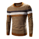 Basic Warm Sweater Men 2016 Casual Brand Clothing Contrast Color Striped Ugly Christmas Sweaters Man Pullovers Winter Pull Homme - Vietees Shop Online