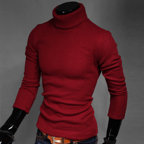 2017 Full Cotton Real Limited Ugly Christmas Sweater Pullover Men Ropa Hombre Autumn And Winter Male Slim Turtleneck Basic Shirt - Vietees Shop Online - 1