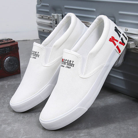 2020 Spring New Men's Shoes Plus Size 39-47 Casual Sneakers White Canvas Shoes