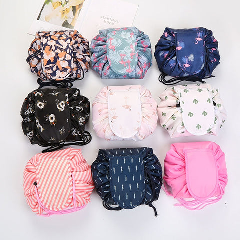 Women Drawstring Travel Cosmetic Bag makeup bagging Organizer Make Cosmetic Bag