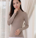 2016 Women Sweater Women fashion Slim Solid Autumn and Winter Knitted Warm Turtleneck Pullover Women Sweater - Vietees Shop Online