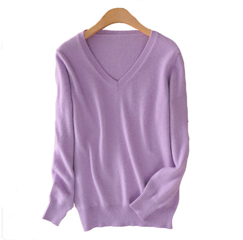 2016 Cashmere Sweater  Women Sweaters and Pullovers Women Fashion O Neck Solid Color Long sleeve XXL Knitted Sweater - Vietees Shop Online