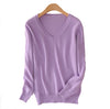 Image of 2016 Cashmere Sweater  Women Sweaters and Pullovers Women Fashion O Neck Solid Color Long sleeve XXL Knitted Sweater - Vietees Shop Online