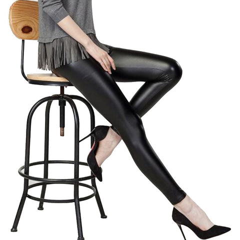 Women Leggings Faux Leather High Quality Slim Leggings New Fashion Plus Size Elasticity Sexy Pants - Vietees Shop Online