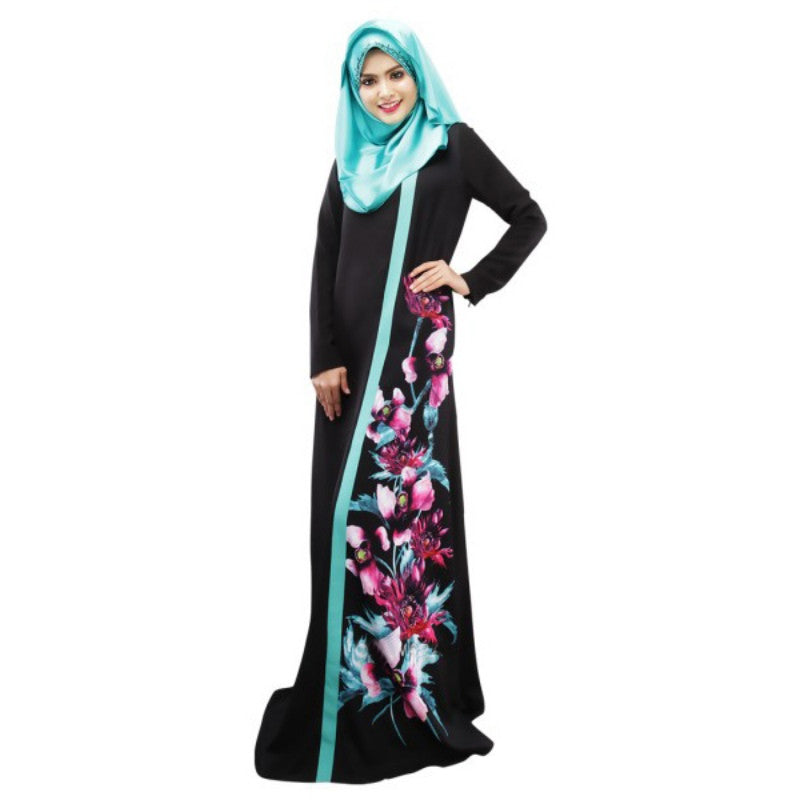 Dubai Moroccan Kaftan Women Long Dress Abaya Jilbab Islamic Arabian Clothing Dresses - Vietees Shop Online