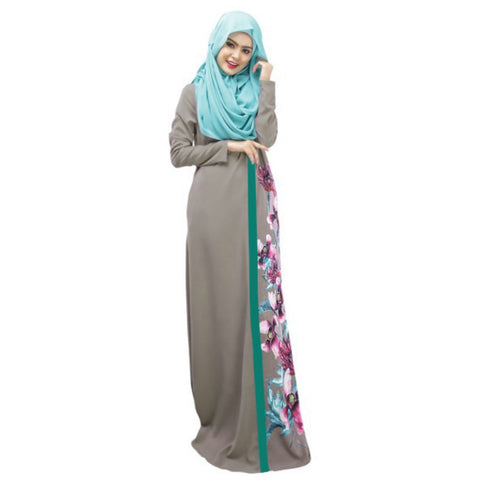 Dubai Moroccan Kaftan Women Long Dress Abaya Jilbab Islamic Arabian Clothing Dresses - Vietees Shop Online - 1