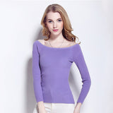 2016 Sex Autumn and Winter Womens Basic sweater female slit neckline strapless  sweater top thin wire thickening - Vietees Shop Online