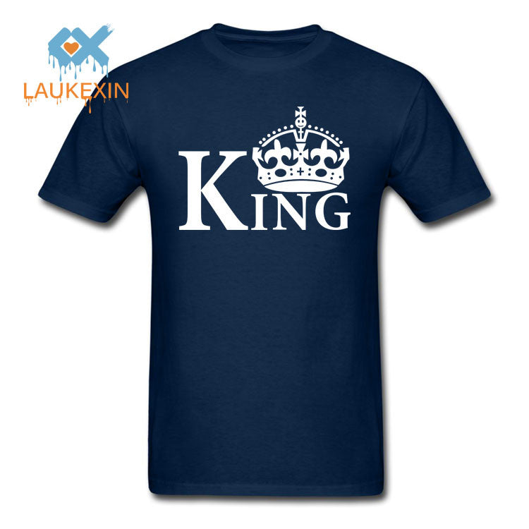 cc03ec6012 New Family King Queen Letter Print t Shirt,2016 Camisetas King Queen Couple  Matching Valentine Summer Fashion Cotton tshirt tops