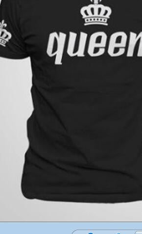BKLD Valentine Shirts Woman Cotton King Queen Funny Letter Print