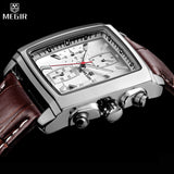 Relogio Masculino Mens Watches Top Brand Luxury MEGIR Men Military Sport Luminous Wristwatch Chronograph Leather Quartz Watch - Vietees Shop Online