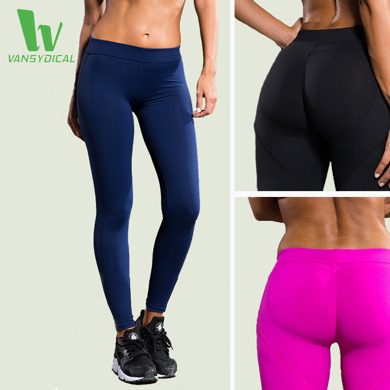 6836286af00c VANSYDICAL Yoga Pants Women Fitness Sexy Hips Push Up Leggings Breathable  Running Tights Sportswear Leggins Sport ...
