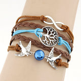 Charm Vintage Multilayer Charm Leather Bracelet Women Owl Cross Believe Bracelets Cheap Statement Jewelry Lady Best Friends Gift - Vietees Shop Online